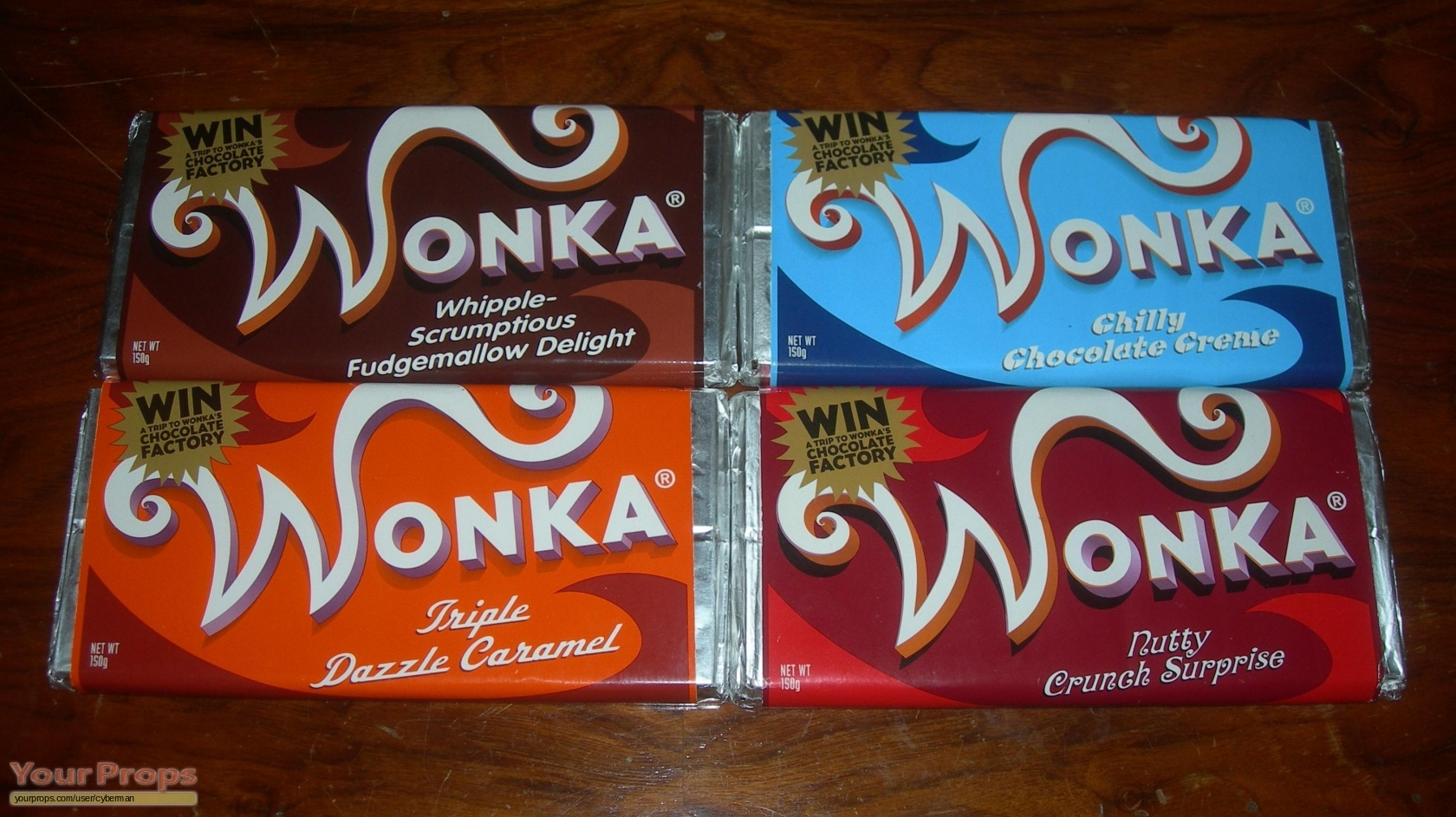 Charlie and the Chocolate Factory ALL 4 WONKA BARS. original movie ...