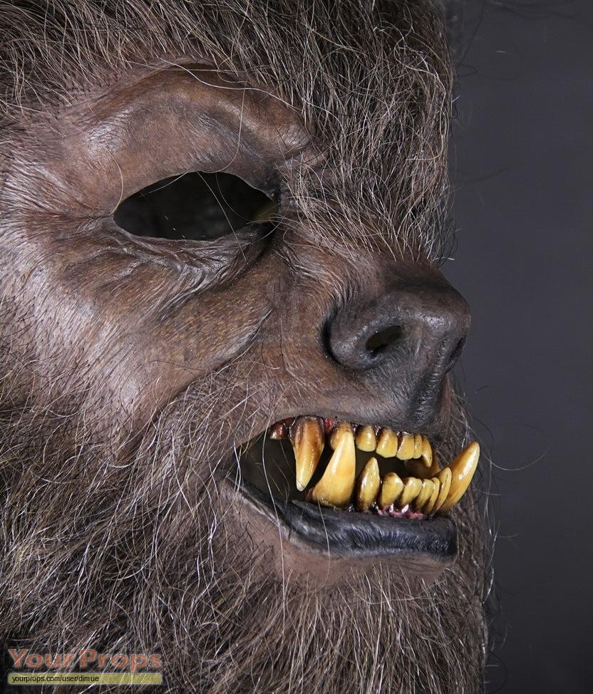 The wolfman benicio del toro close up stunt werewolf mask original