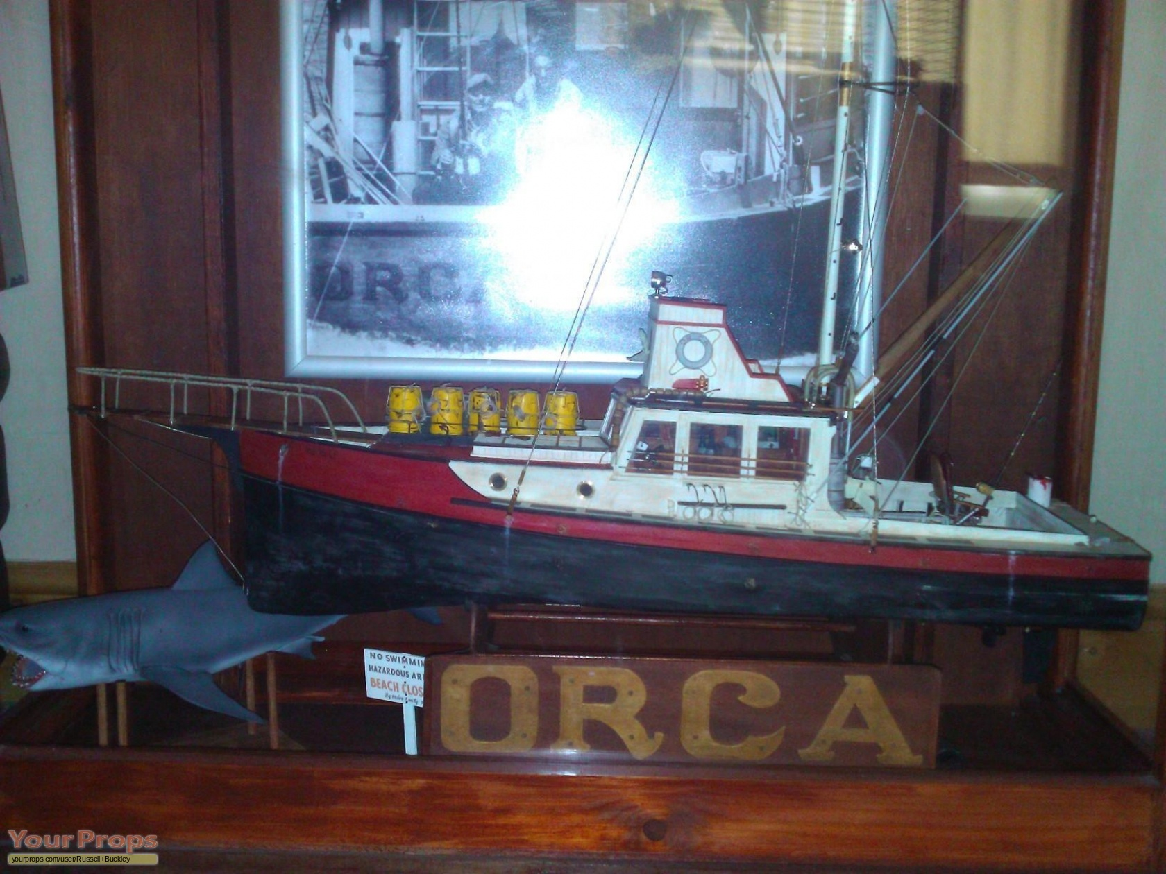 Jaws 'ORCA' Lobster Fishing Boat Replica (3 ft) made from scratch