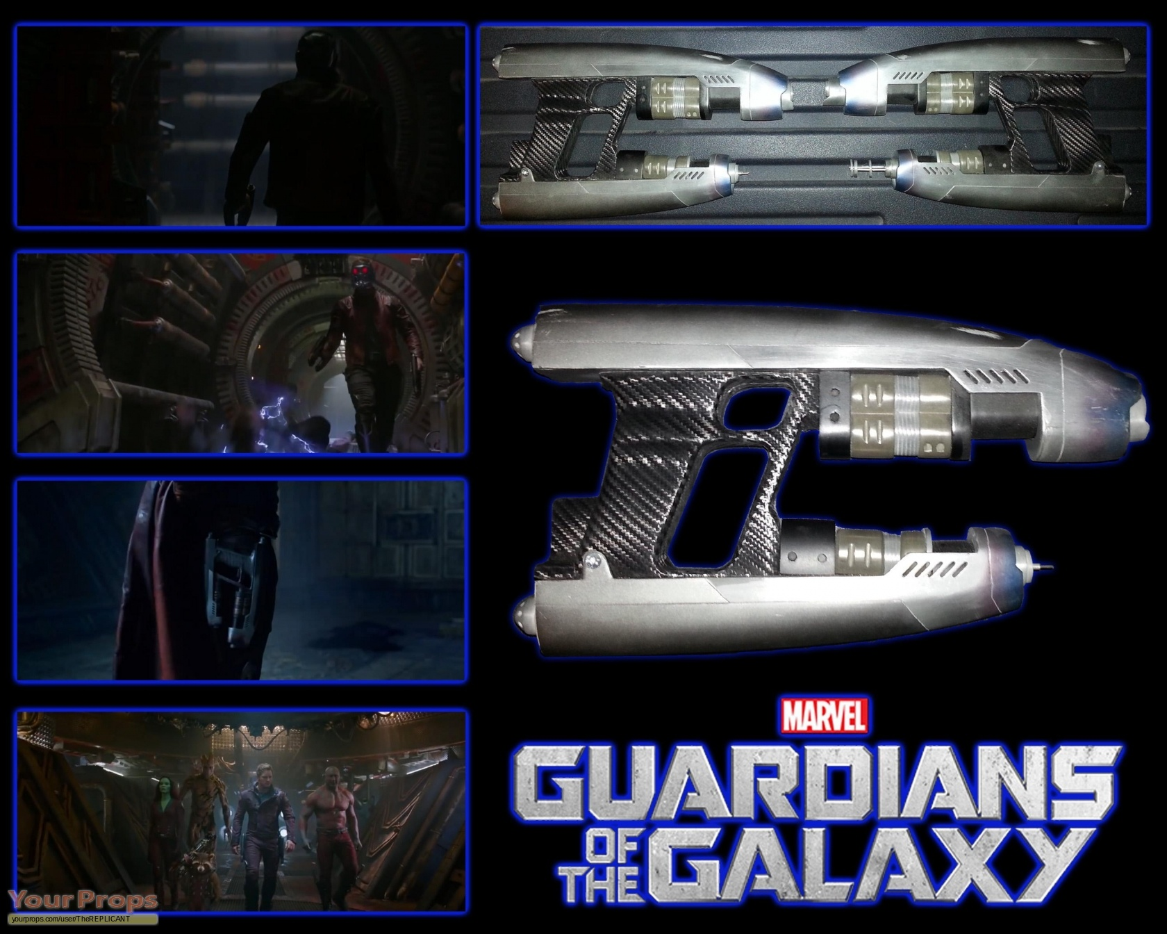 Guardians of the galaxy star lord quad blaster guns made from scratch