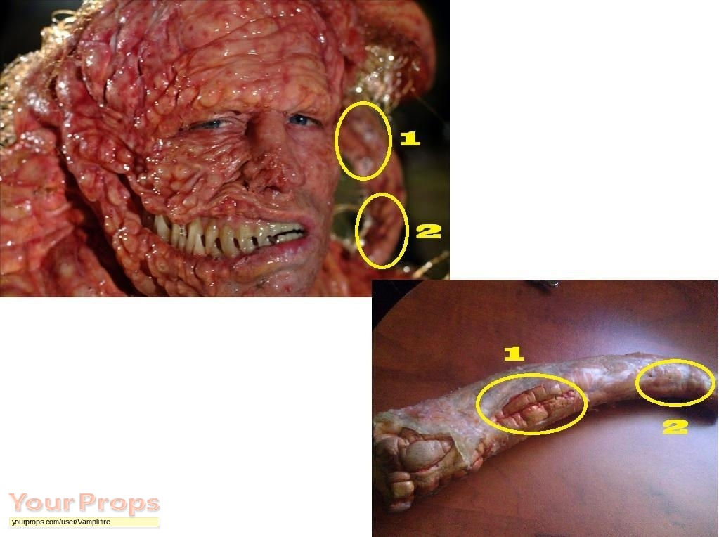 Slither Grant Monster's Head Tentacle original movie prop