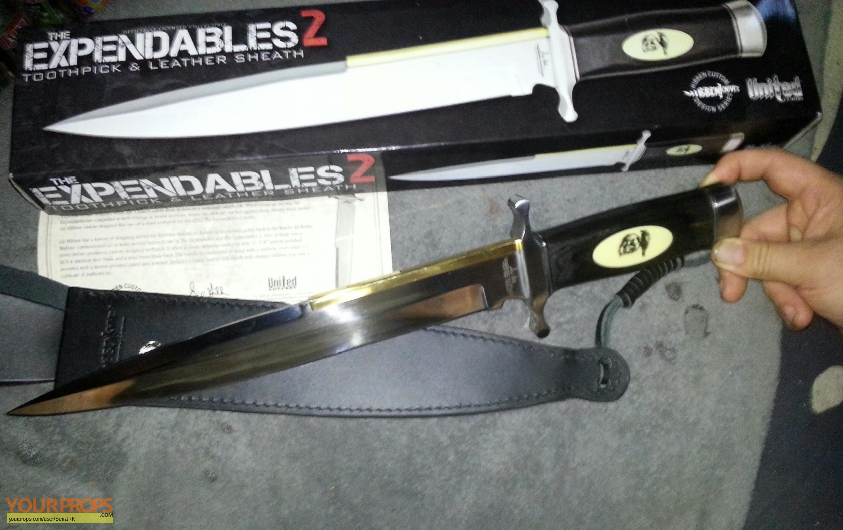 the expendables 2 expendables 2 toothpick knife united cutlery