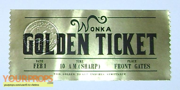 Charlie and the Chocolate Factory Wonka Golden Ticket ...
