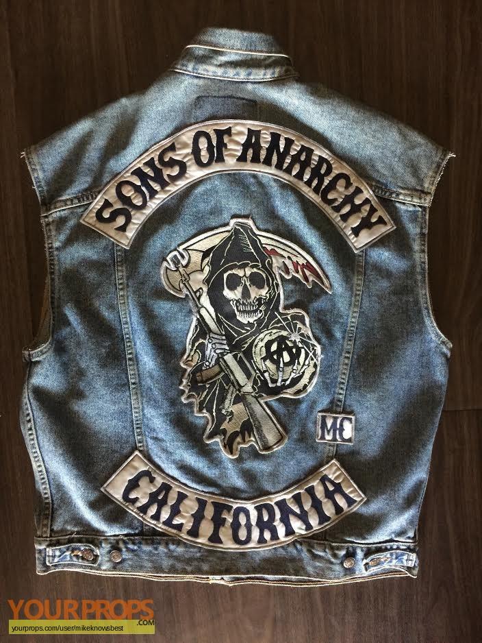 Sons Of Anarchy John Tellers Biker Vest Soa Original Tv Series Costume