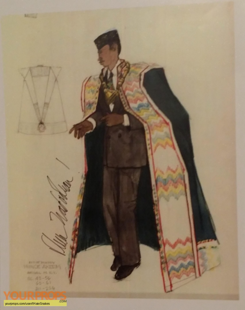 Coming To America Prince Akeem Deborah Nadoolman Signed Costume Design Sketch Print Replica Prod Artwork