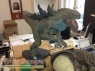 Godzilla scaled scratch-built model   miniature