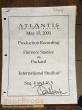 Atlantis  The Lost Empire original production material